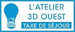 L'Atelier Taxe de Séjour 3D Ouest Logo